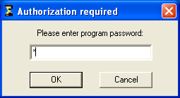 CafeAgent password authorization